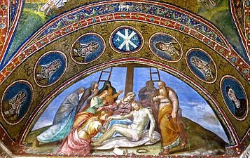 Mural_by_Luca_Longhi_(1507-1580),_The_Lamentation_of_Christ